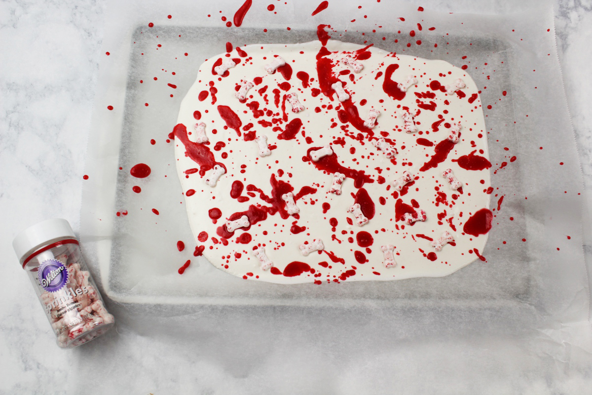 Bloody Delicious Bones Halloween Bark Recipe