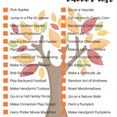 Have Some Fun This Fall With This Fall Family Bucket List