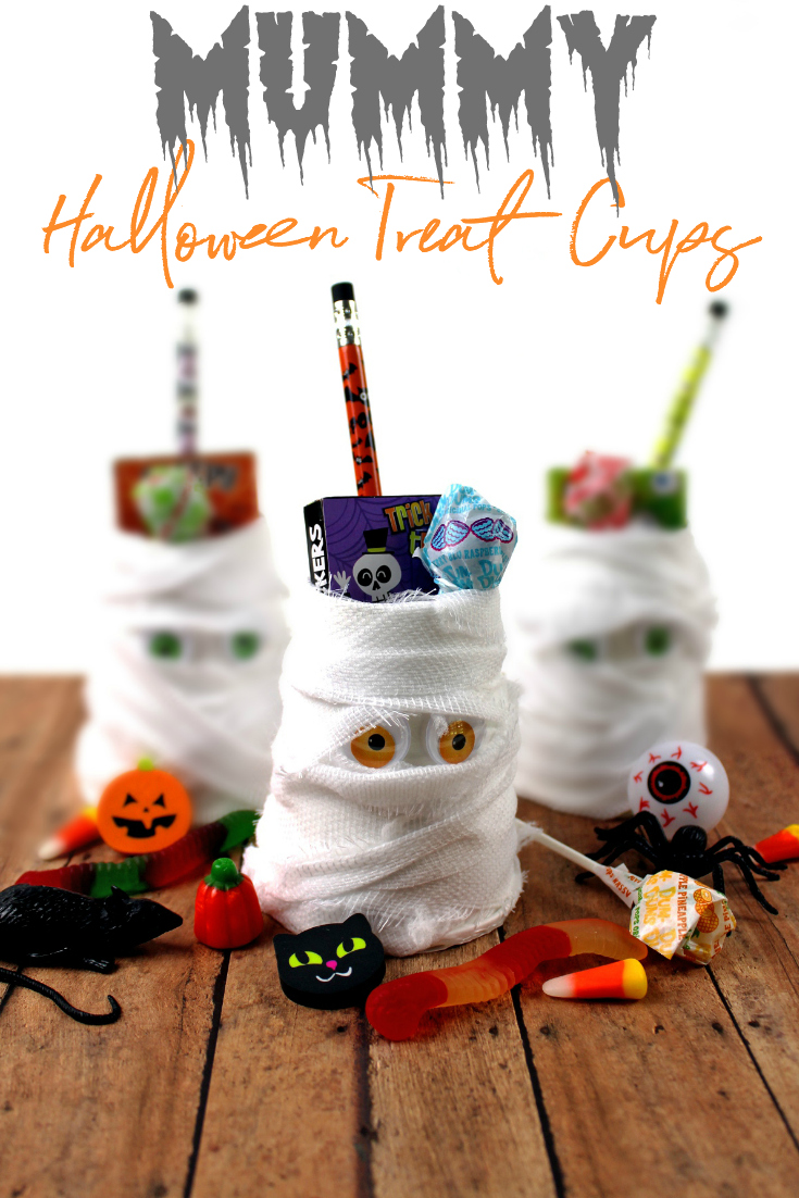DIY Mummy Halloween Treat Cups