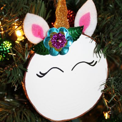 DIY Magical Unicorn Christmas Tree Ornament