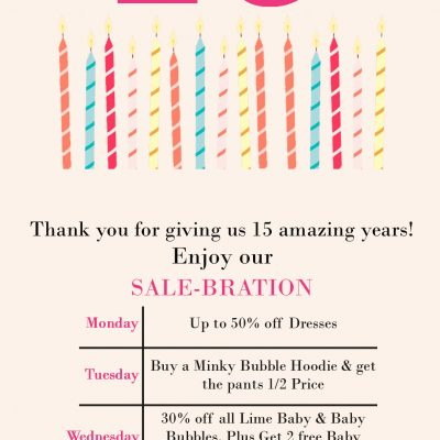 Don't Miss The Limeapple 15th Anniversary Sale!