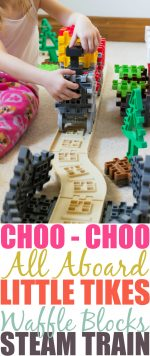 Choo-Choo All Aboard The Little Tikes Waffle Blocks Steam Train