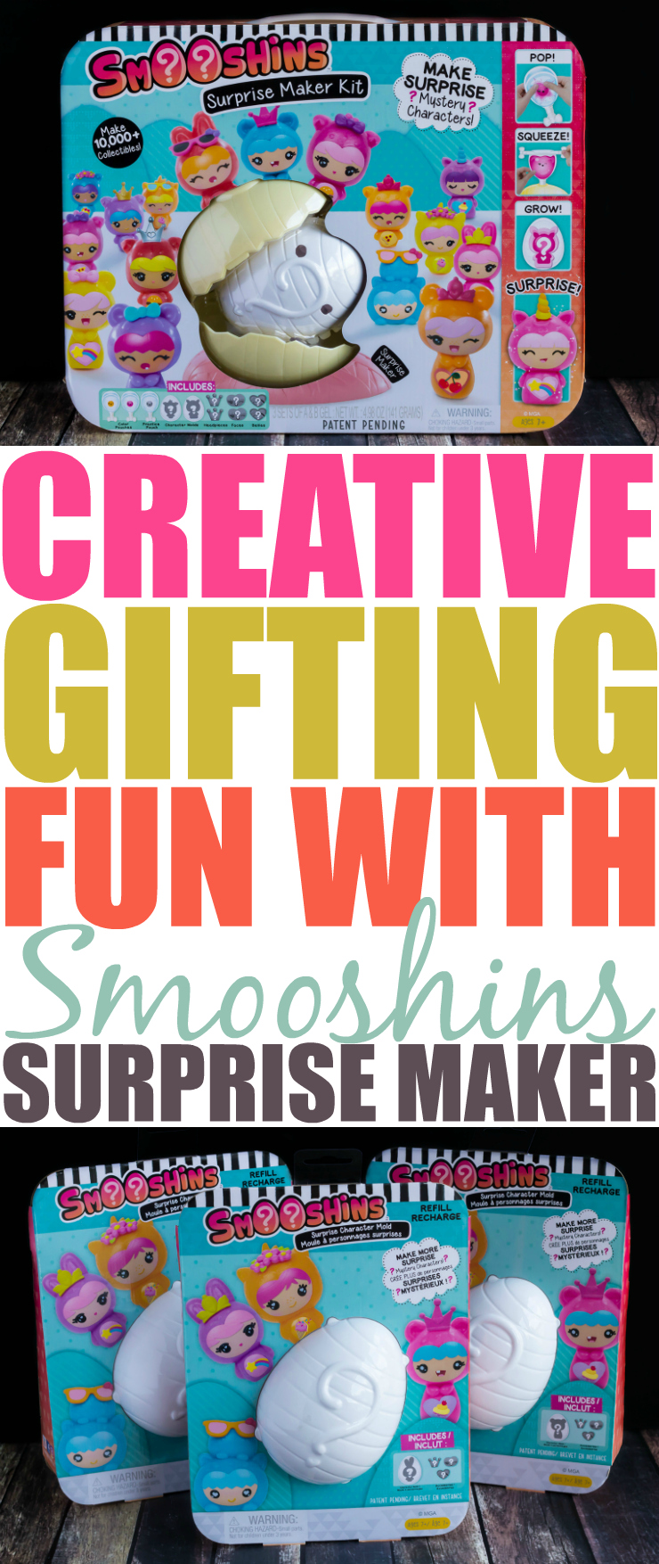 Give the gift of creativity and surprise with the Smooshins Surprise Maker Kit. It's a perfect gift for the creative child who loves surprises!