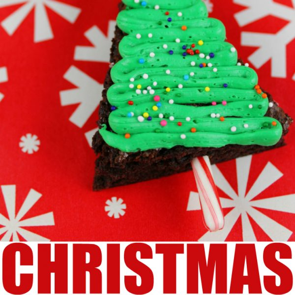 Easy Holiday Christmas Tree Brownies