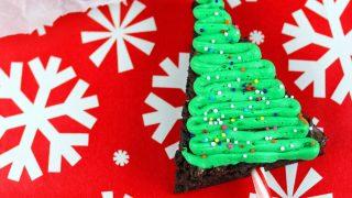 Easy Holiday Christmas Tree Brownies