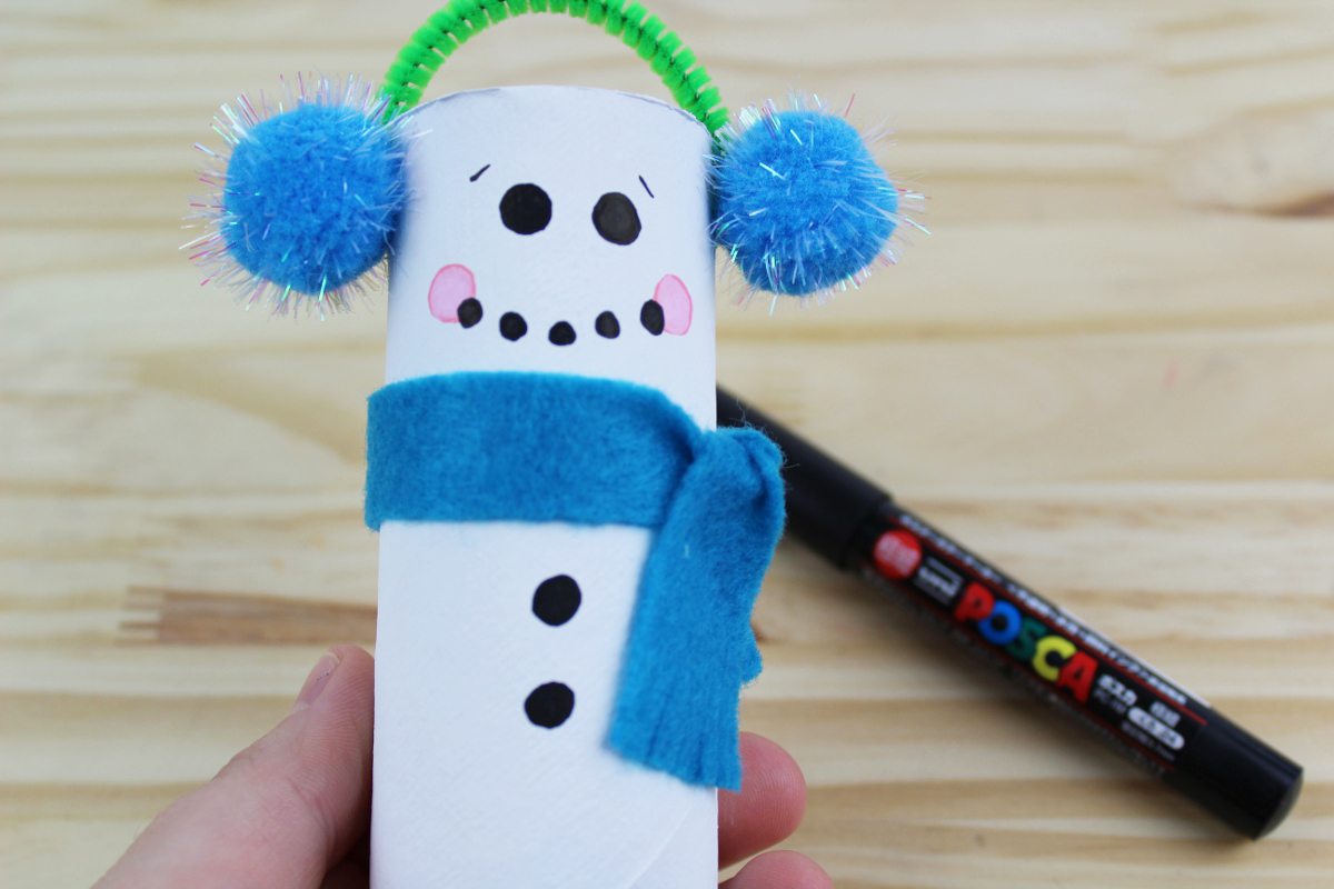 Recycled Toilet Paper Tube Christmas Snowmen Craft
