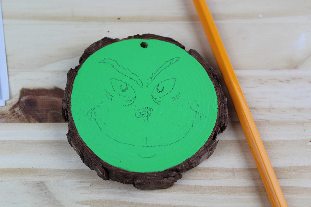 Wooden Grinch Christmas Tree Ornament Craft