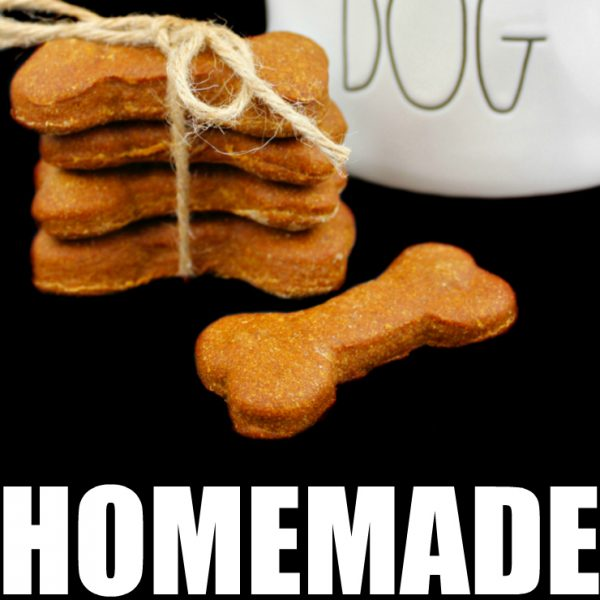 Peanut Butter Pumpkin Homemade Dog Biscuits