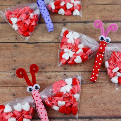 Butterfly Valentine's Day Treat Bags