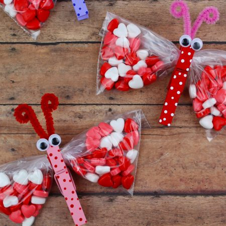 Butterfly Valentines Day Treat Bags Extreme Couponing Mom