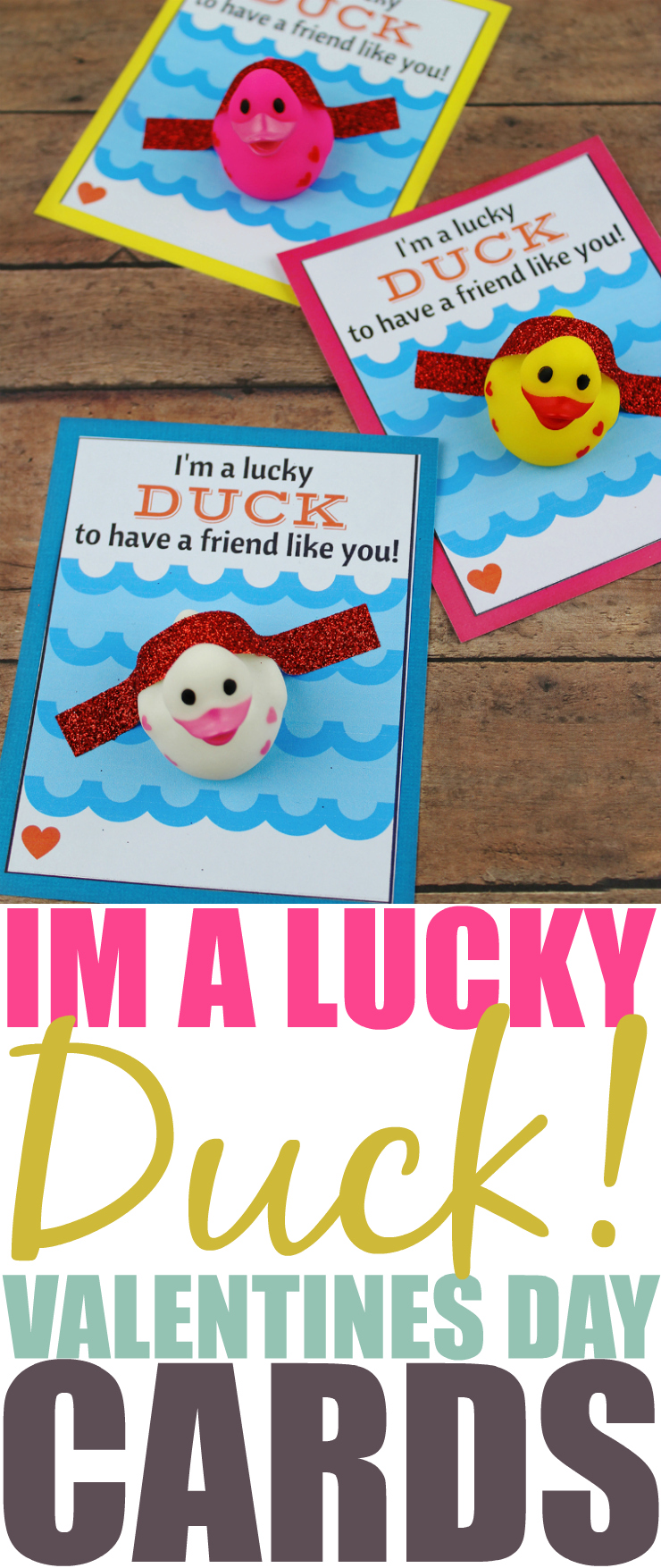 DIY Lucky Duck Valentine's Day Card