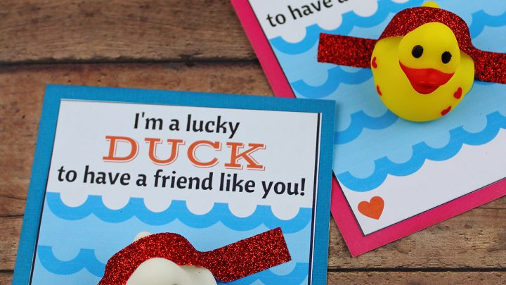 DIY Lucky Duck Valentine's Day Card