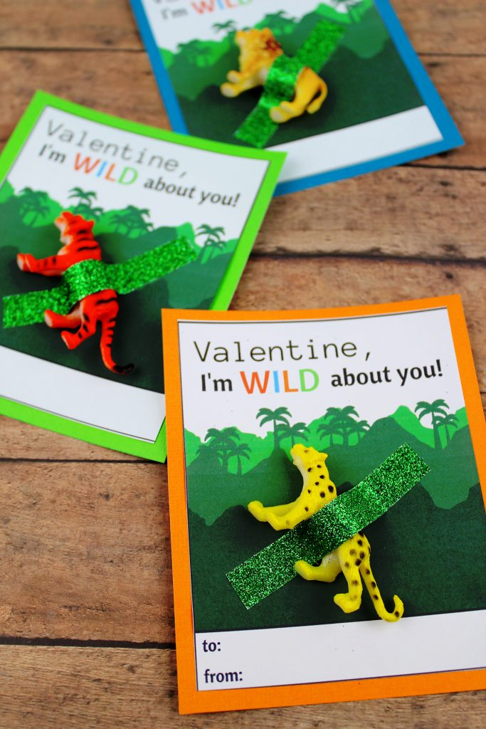 DIY Wild About You Valentine's Day Card