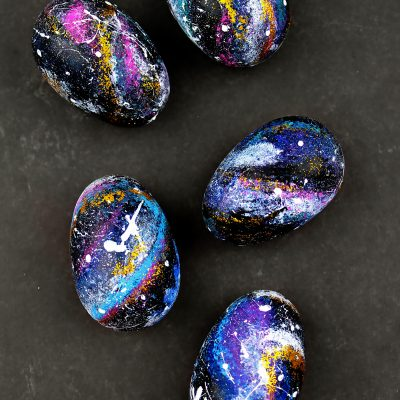 Out Of This World Galaxy Easter Eggs