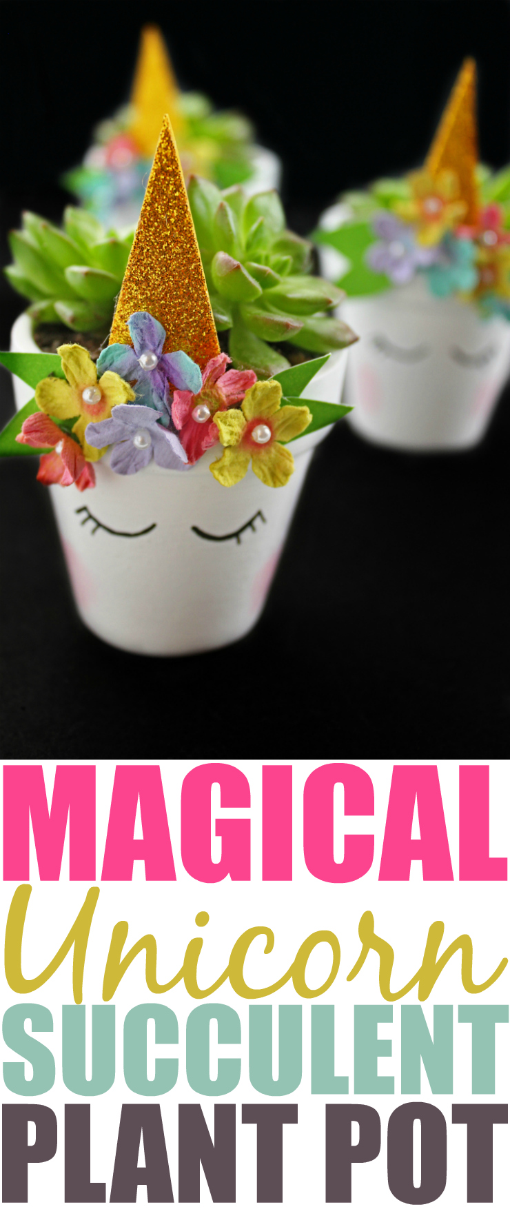 If you are looking to brighten your home or office, these adorable unicorn succulent plant pots are the perfect weekend craft!