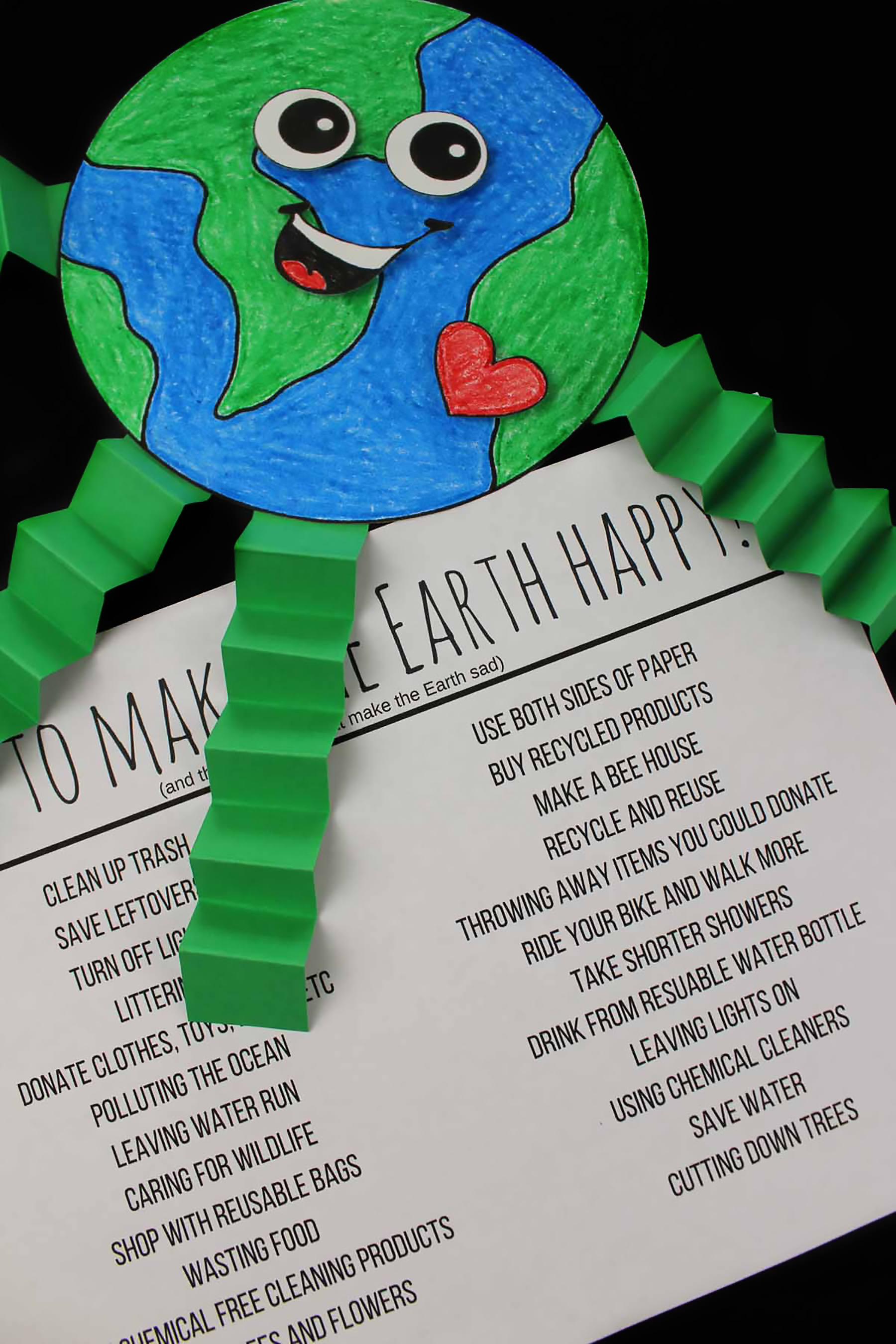 Earth Day Craft: What Makes Earth Happy And Sad