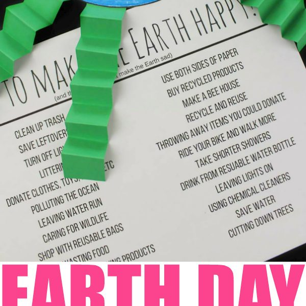 Earth Day Learning Craft: How To Make Earth Happy