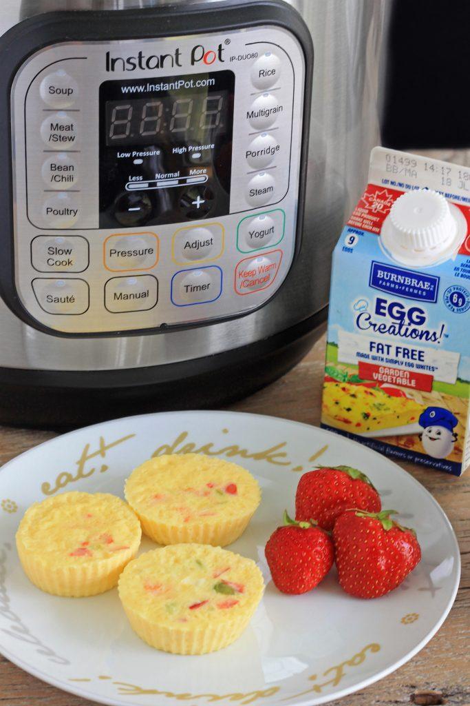 Keto Friendly 5 Minute Instant Pot Egg Muffins