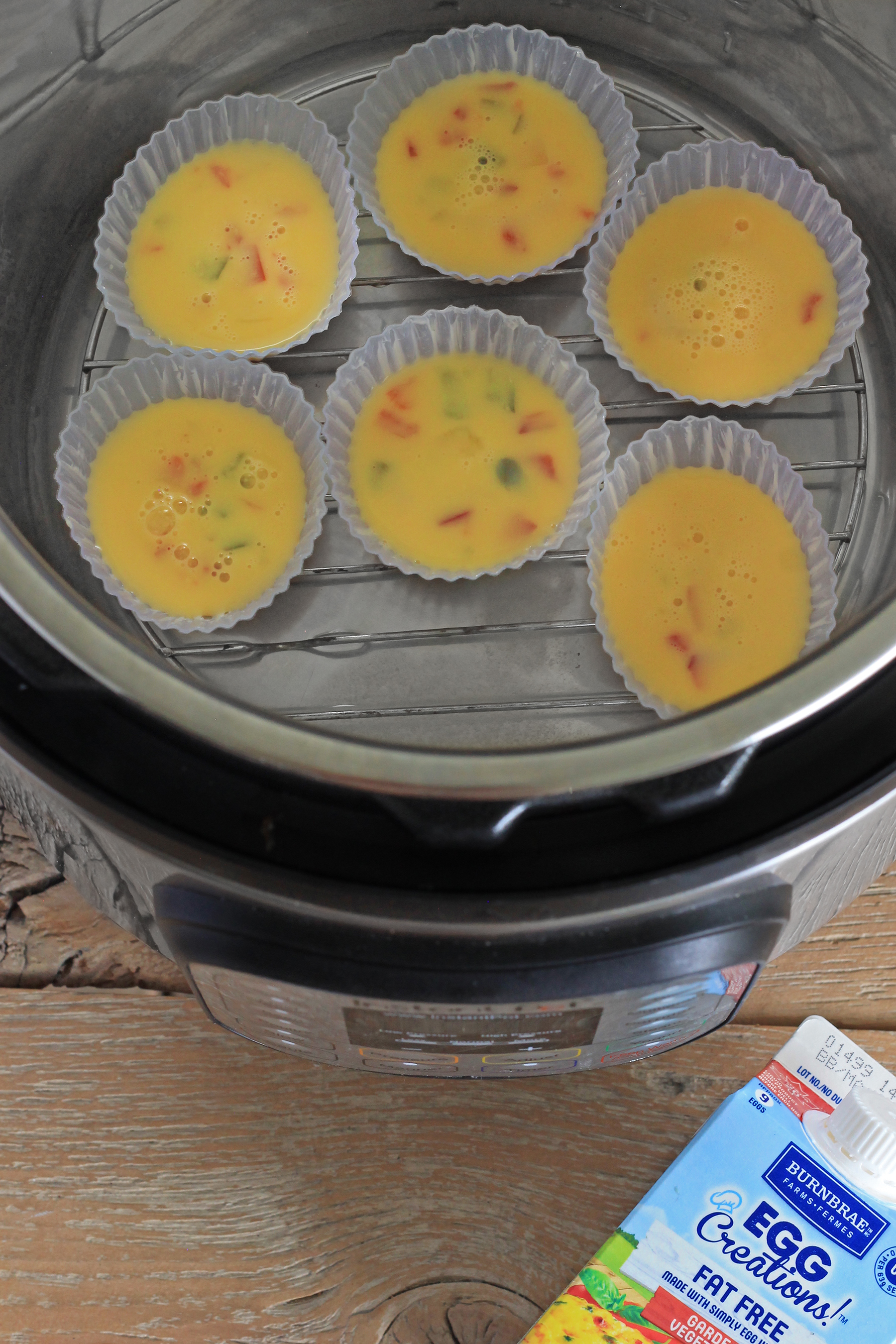 Keto Friendly 5 Minute Instant Pot Egg Muffins