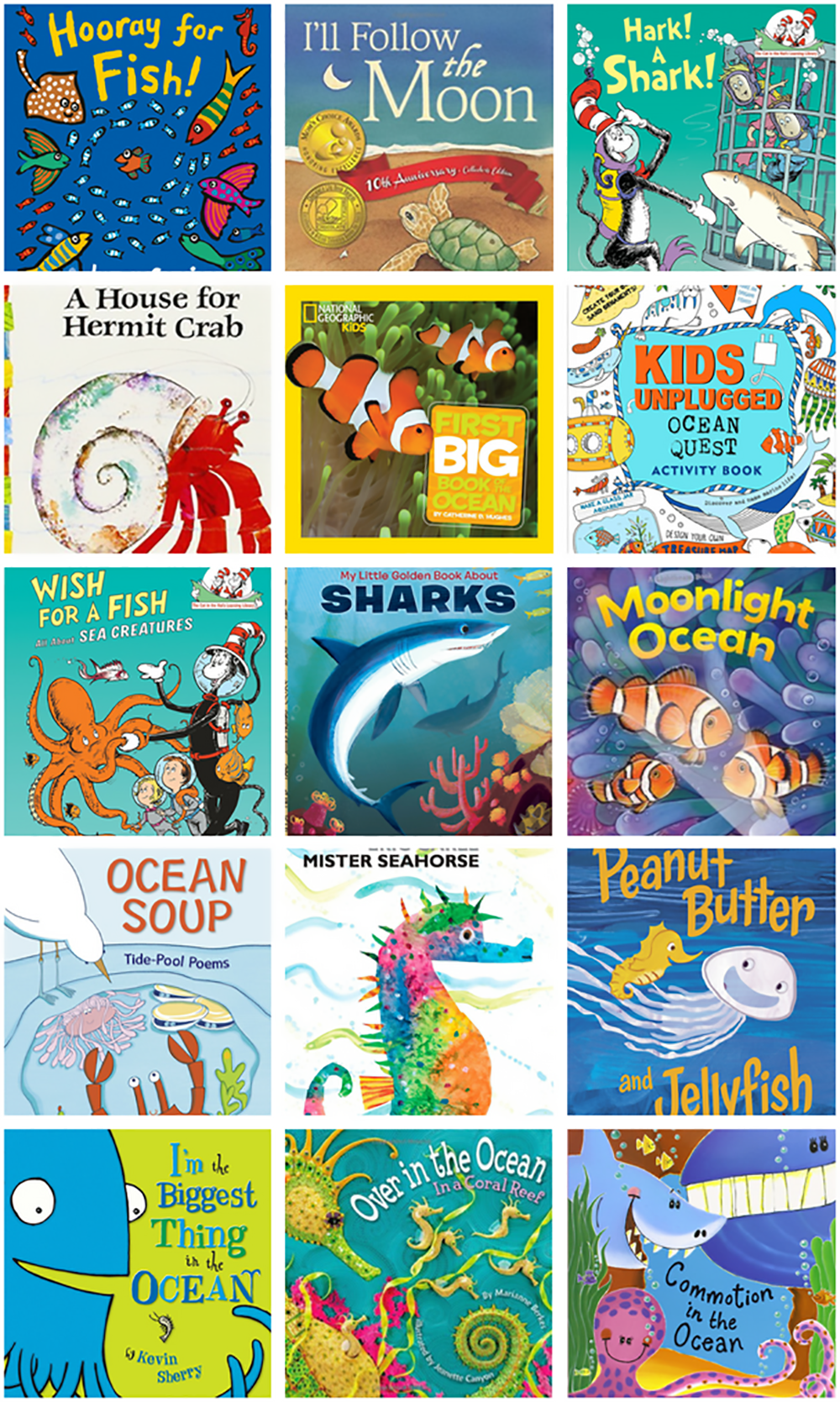 DIY Summer Camp at Home Ocean Theme Booklist