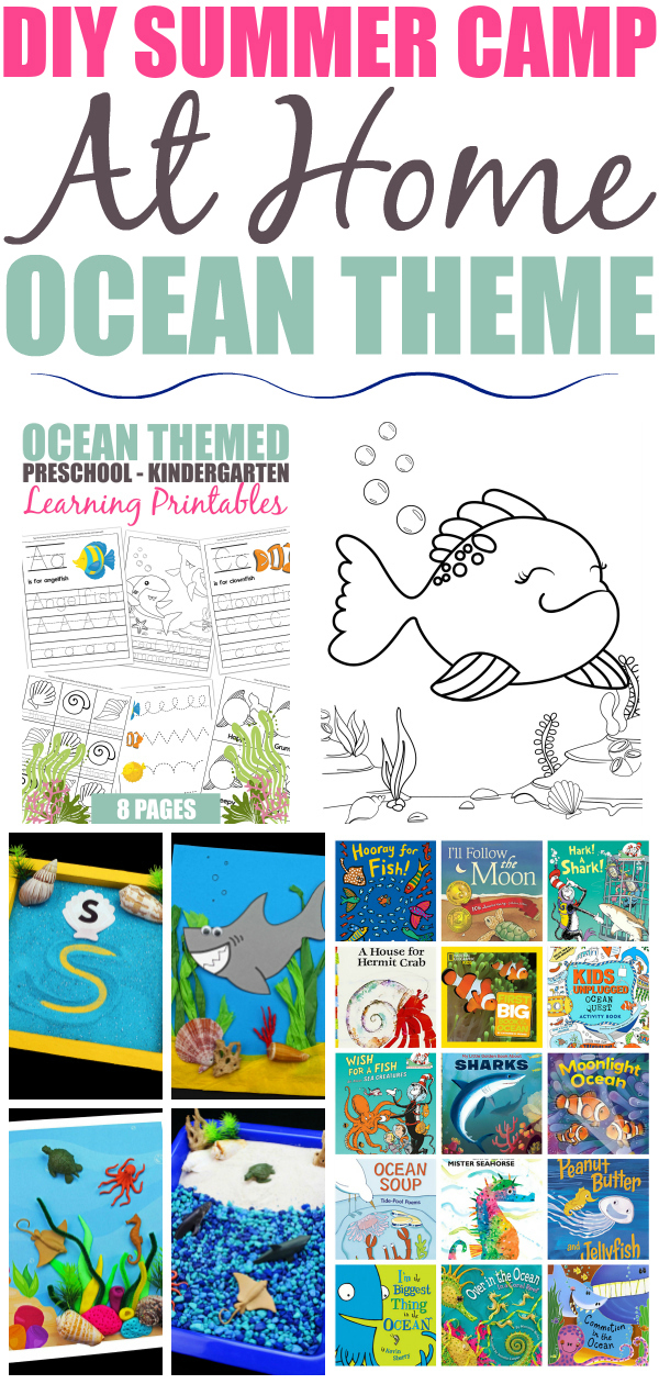 This weeks edition of DIY Summer Camp is all about the ocean! Let your child explore the ocean wonders through fun worksheets, sensory bins, crafts & more.