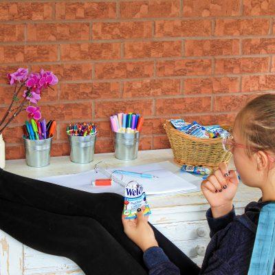 Beat The Homework Battle With A Fun DIY Homework Station