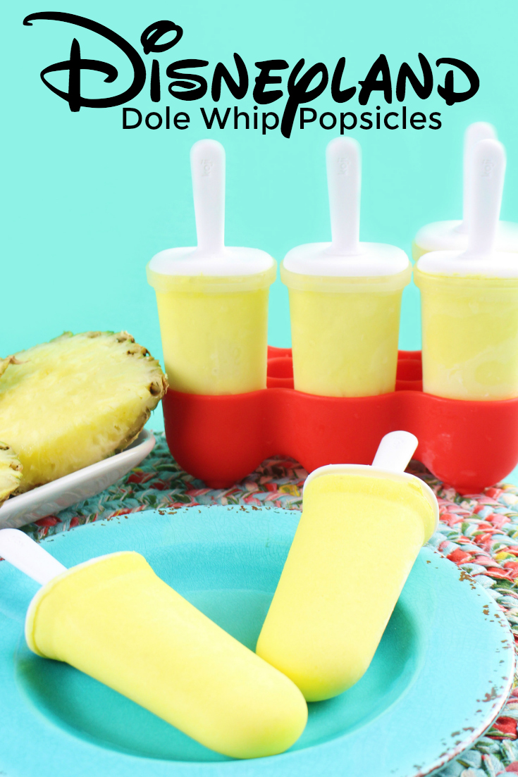 Do you love Disneyland Dole Whip? Then you are going to love these Dole Whip Popsicles! All the creamy magical deliciousness, just in popsicle form. #Disneyland #DisneyWorld #Disney #DoleWhip #Recipe