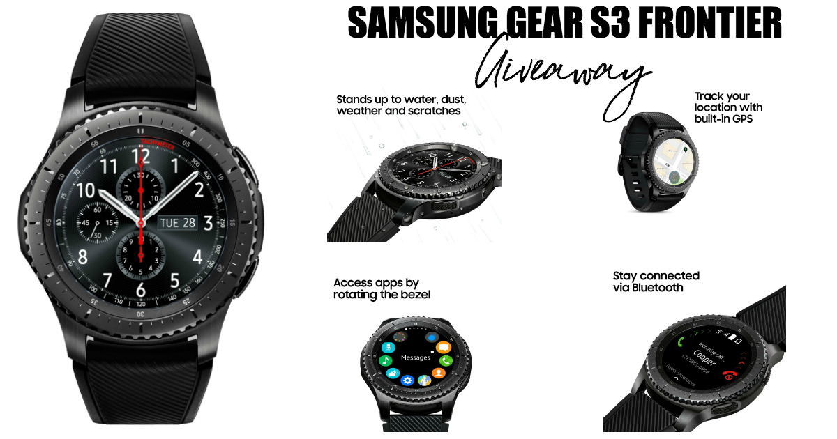Samsung Gear S3 Frontier Giveaway