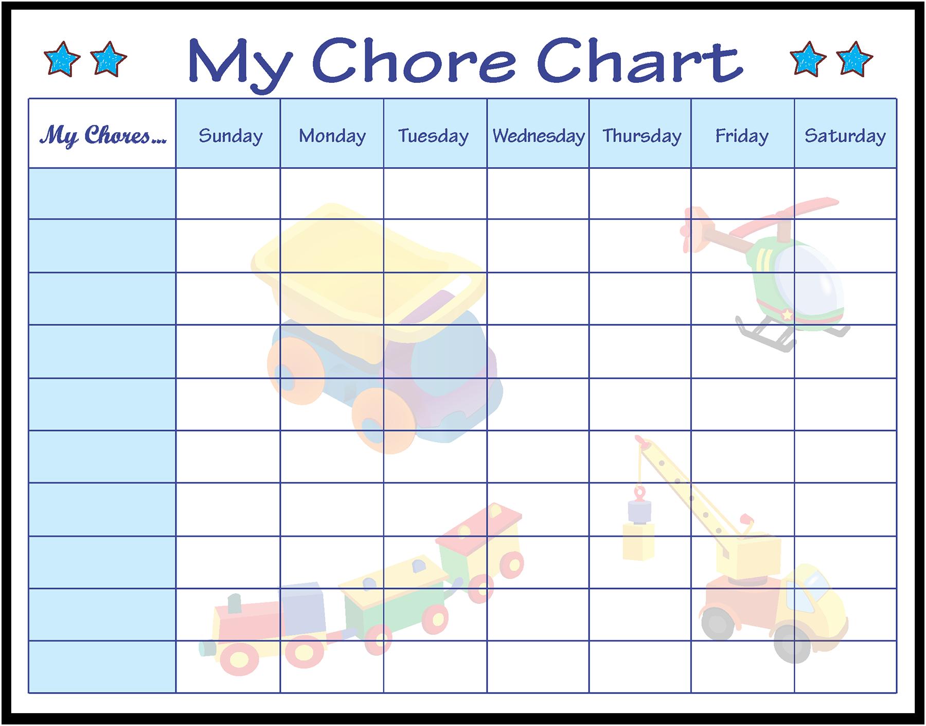 Boy Chore Chart