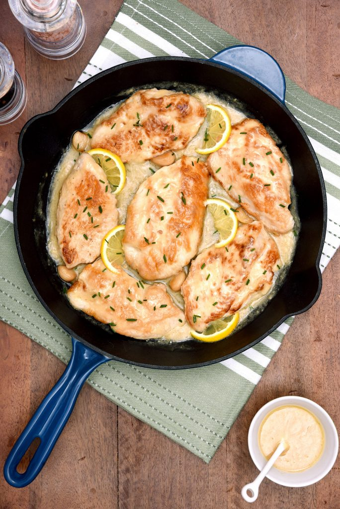 Creamy Lemon Garlic Skillet Turkey