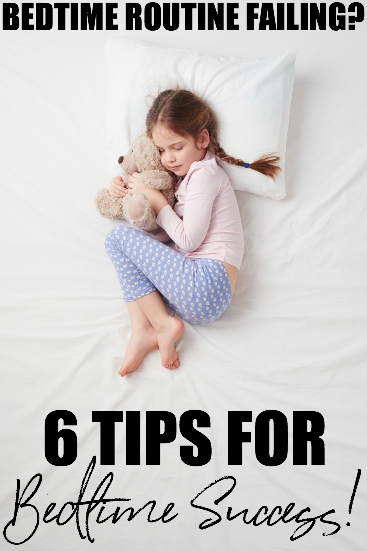 Is your bedtime routine failing? One day your kids will stop fighting bedtime, but until then I have some tips to help with bedtime routine success! #Parenting #ParentingTips