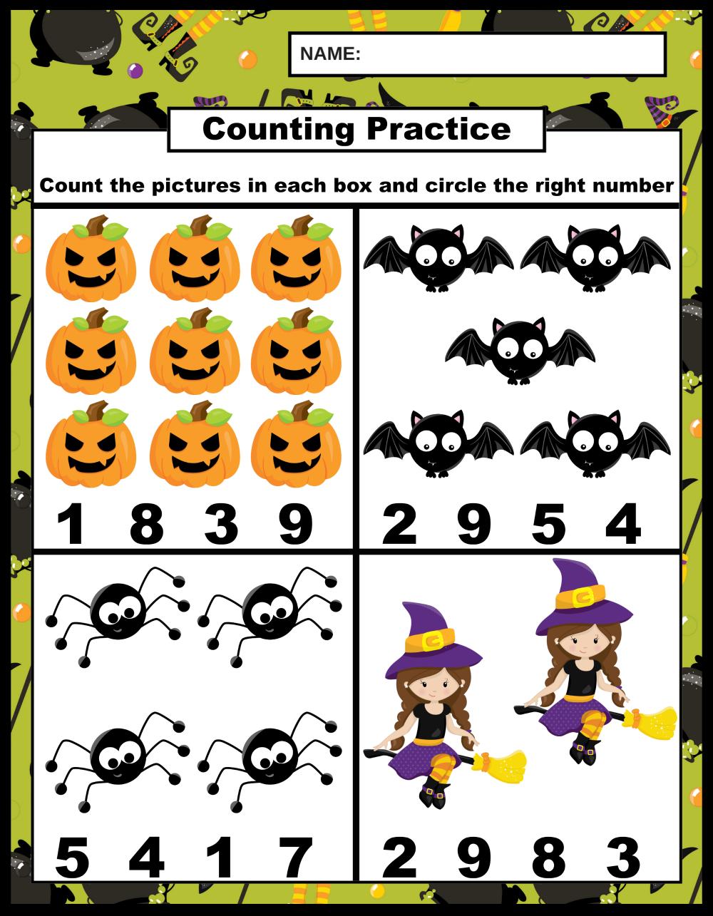 Halloween Learning Printables
