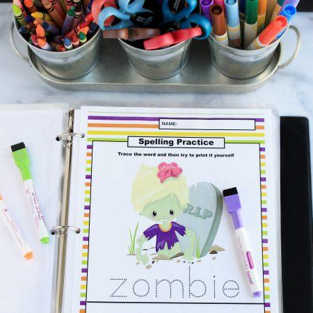 Halloween Learning Printables Package