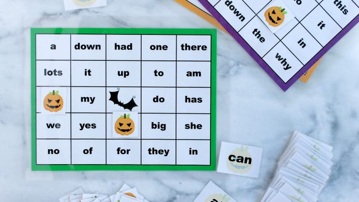 Sight Words Halloween Bingo Printable Package