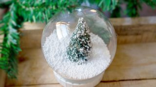 DIY Christmas Tree Snow Globe