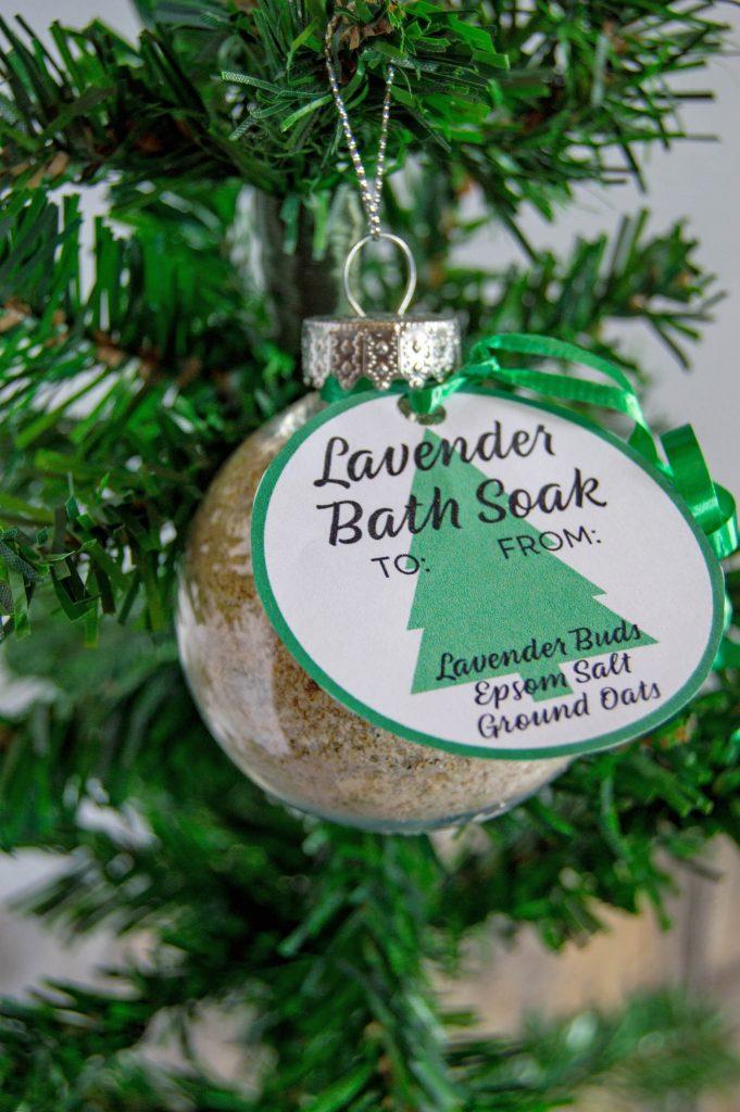 Lavender Bath Soak Ornaments With Printable Tags