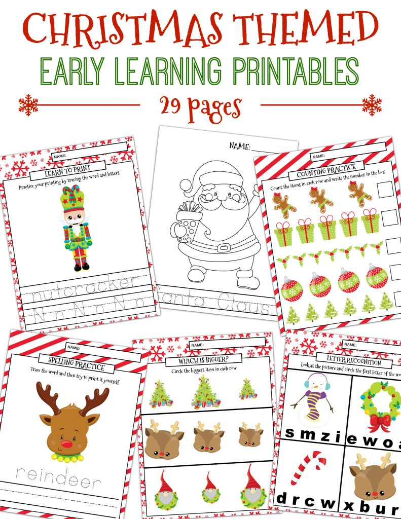 Christmas Learning Printables Package