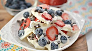 Frozen Greek Yogurt Chocolate Berry Bark