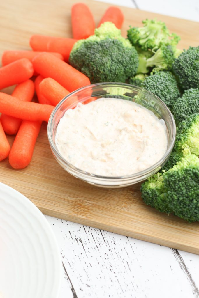 Tangy Keto Cream Cheese Veggie Dip