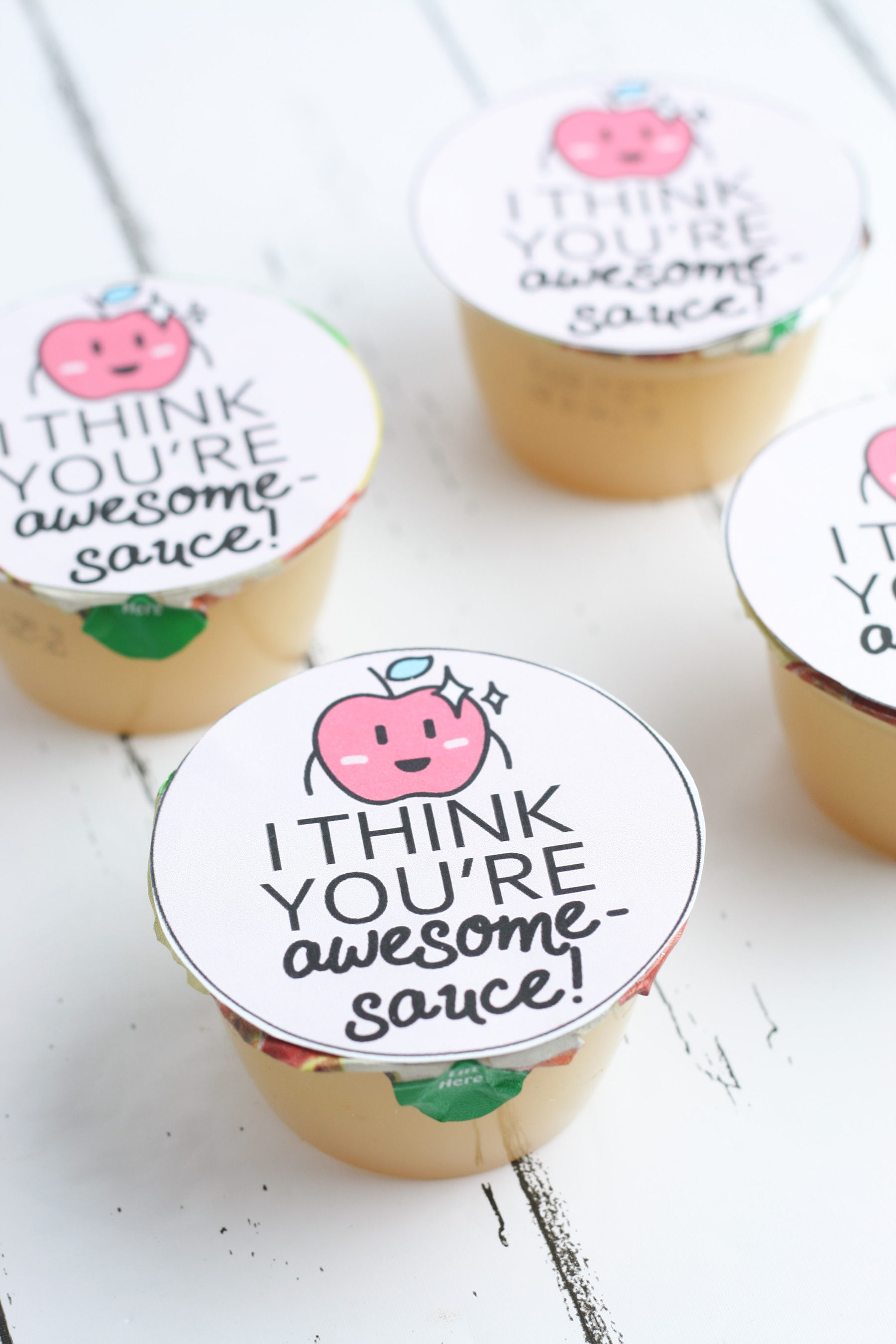 I Think You're Awesome-Sauce Valentine