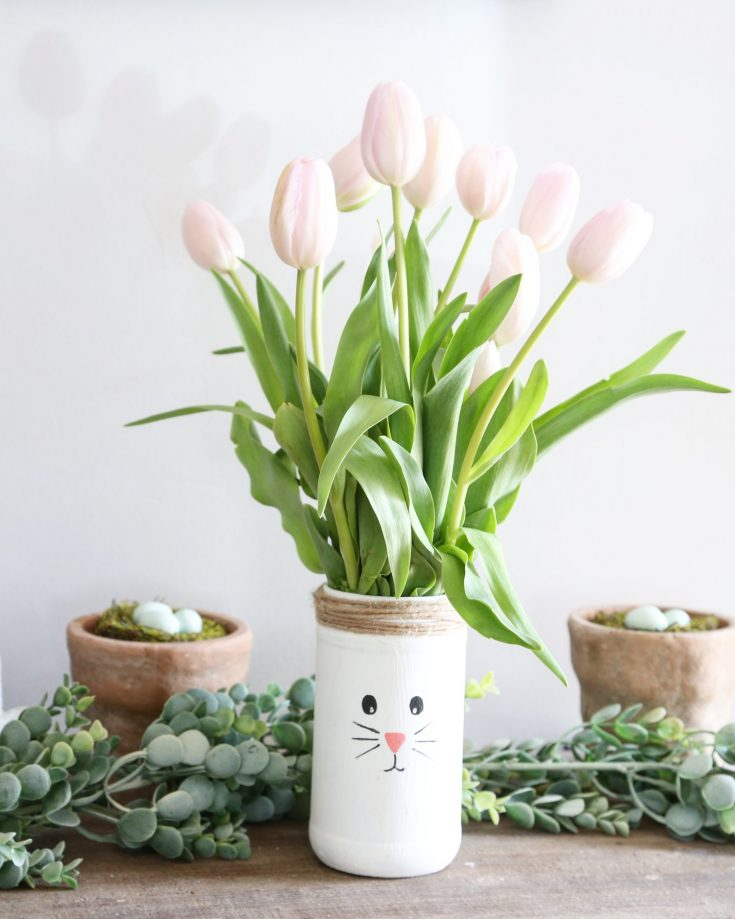 DIY Recycled Easter Bunny Vases