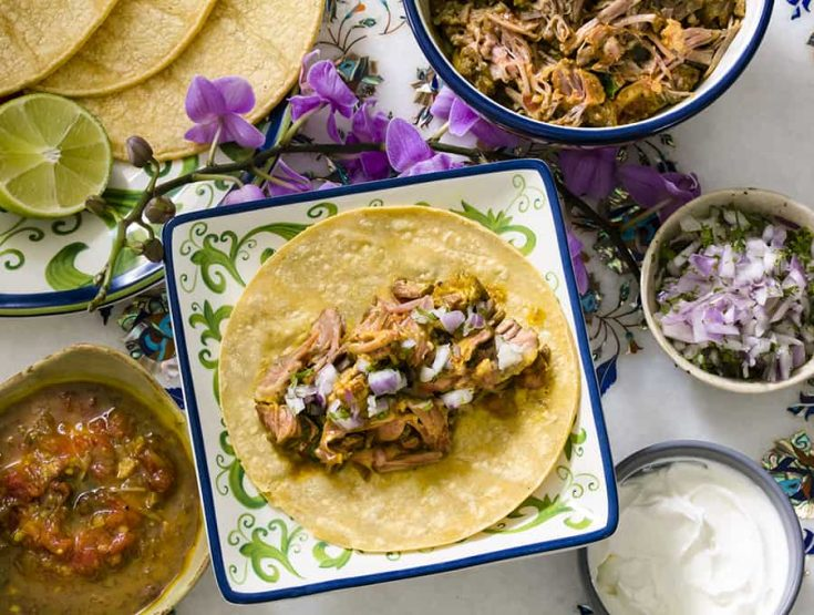 Indian Pulled Pork Tacos | Pressure Cooker Recipe