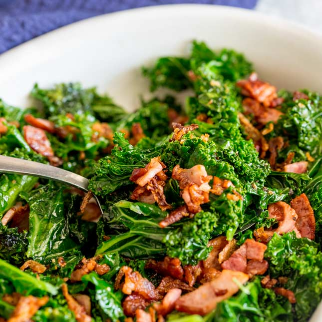 Sautéed Kale and Bacon - Quick Side