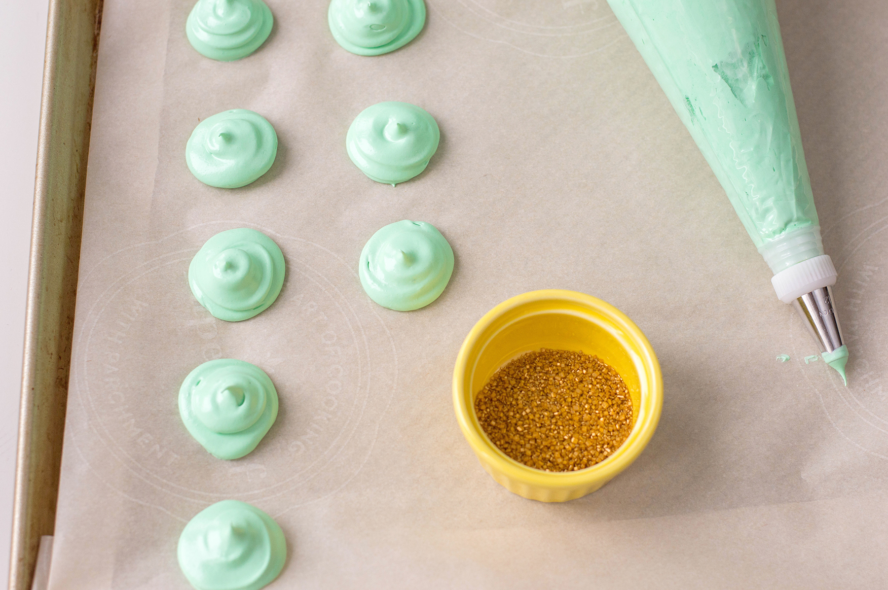 Lucky St. Patrick's Day Meringue Cookies