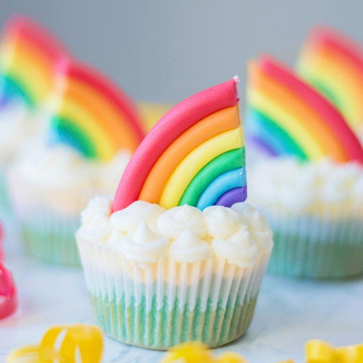Rainbow Cupcakes Recipe + Decorating Tutorial