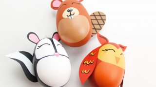 DIY Woodland Animal Easter Eggs
