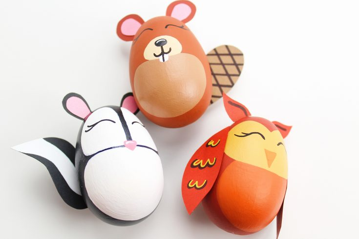 DIY Woodland Animal Easter Eggs