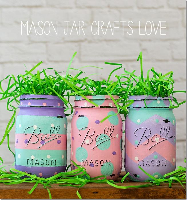 Easter Egg Mason Jars