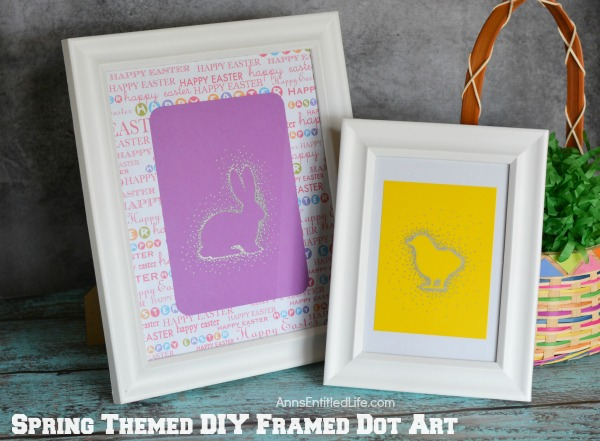 Spring Themed DIY Framed Dot Art