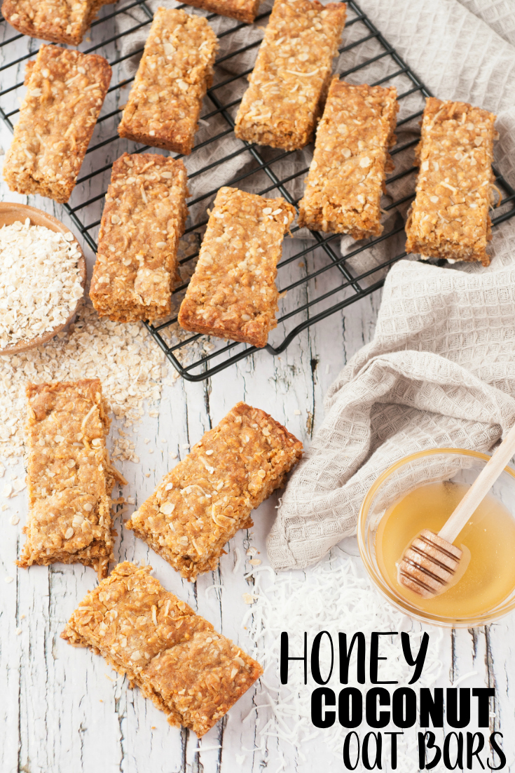 Honey Coconut Oat Bars